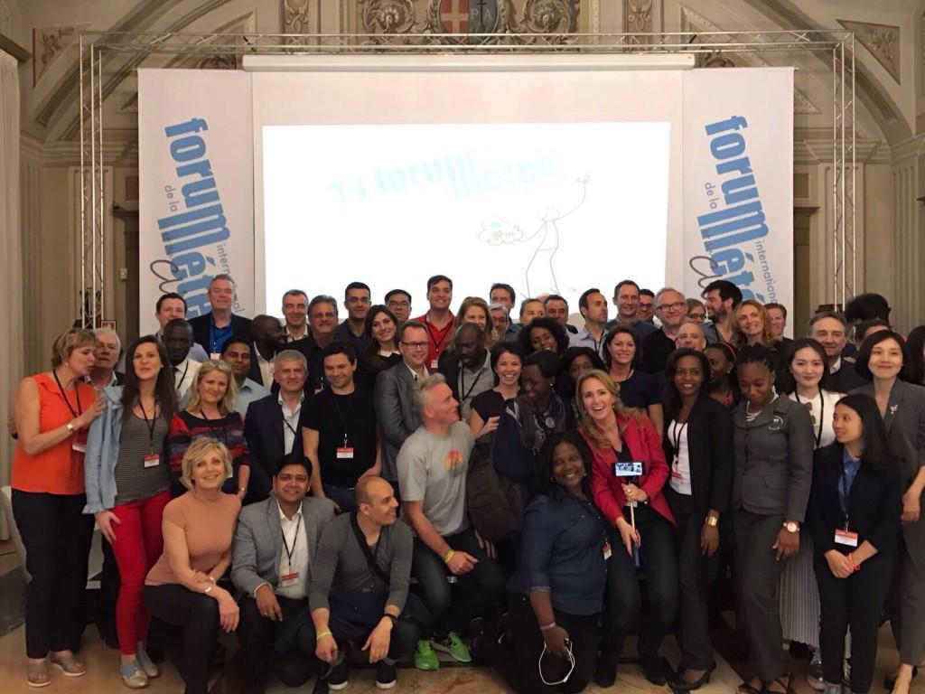 Esperti meteo provenienti da tutto il mondo riuniti a Moncalieri (TO)  per parlare delle strategie di comunicazione del cambiamento climatico -  Foto Twitter @Forumeteoclimat