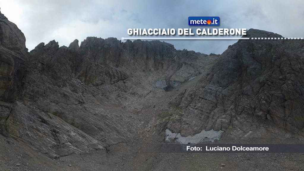 Secondo recenti notizie, il Ghiacciaio del Calderone sarebbe quasi scomparso. In realtà non è così.