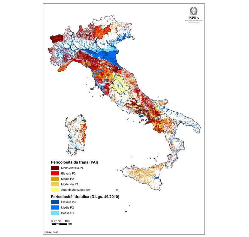Rischio idraulico e idrogeologico in Italia - ISPRA