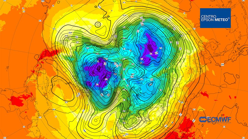 850 hPa temperature / 500 hPa geopotential Thursday 22 Feb, 00 UTC T+0 Valid: Thursday 22 Feb, 00 UTC