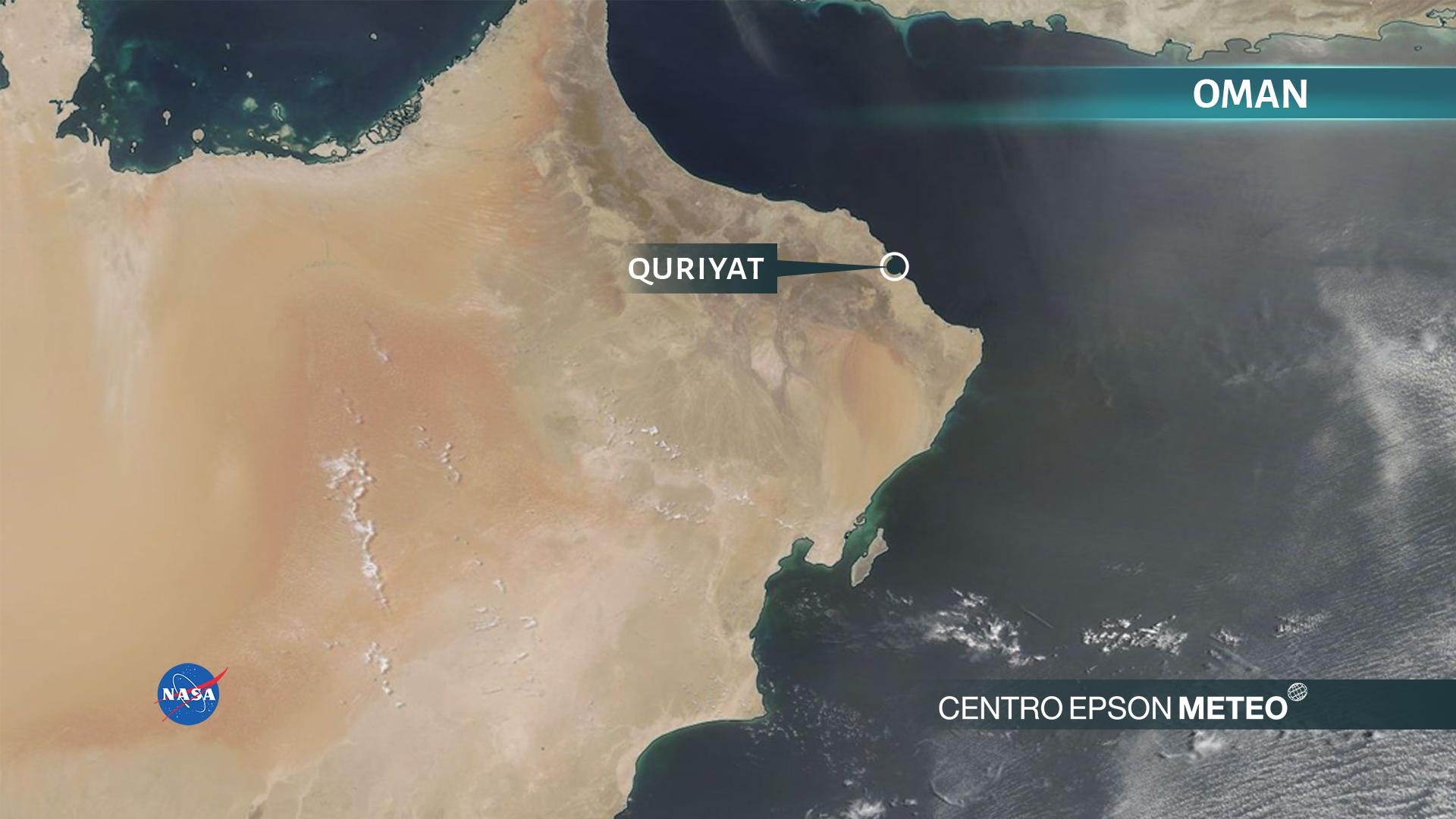 Caldo record in Oman: in 24 ore il termometro non è mai sceso sotto i 42.6 gradi