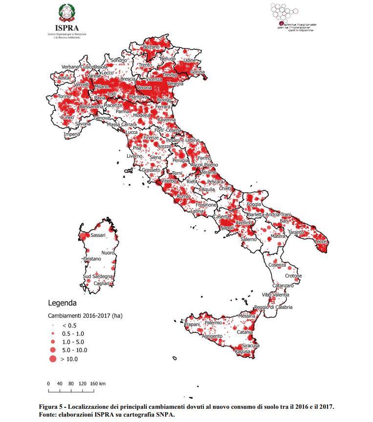 consumo suolo in Italia