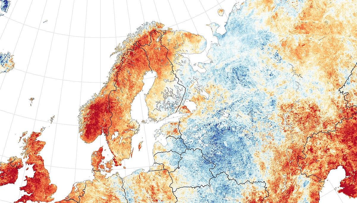 Caldo anomalo Europa 2018