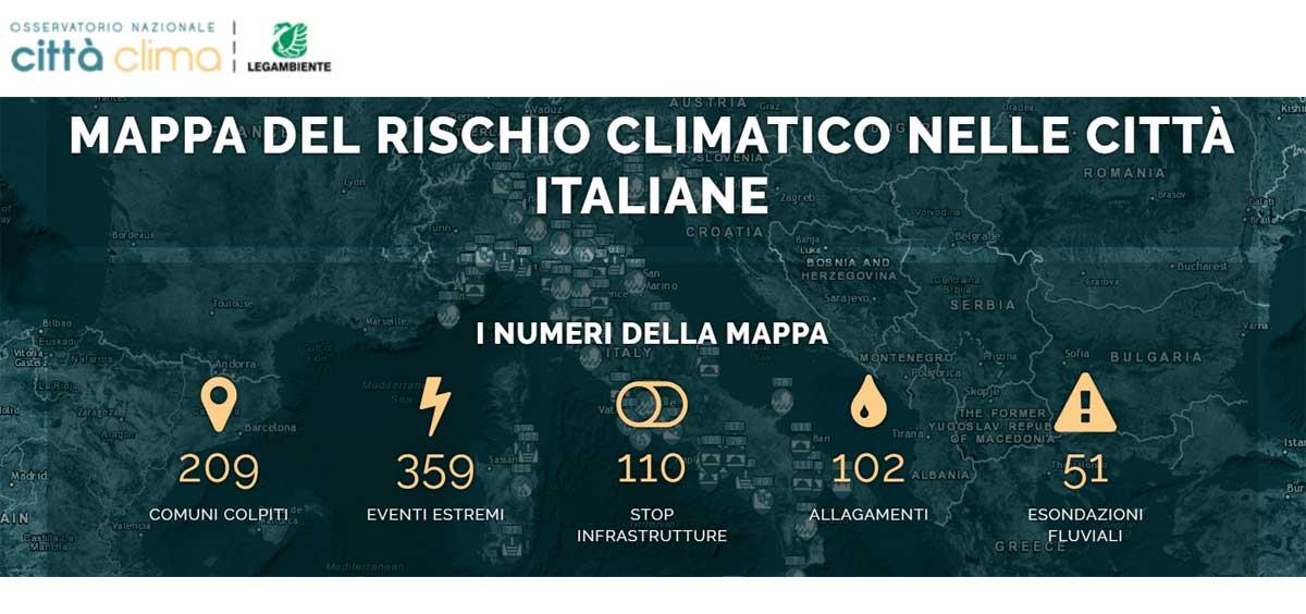Rischio climatico: l'impatto dei cambiamenti climatici sulle città italiane nel report di Legambiente