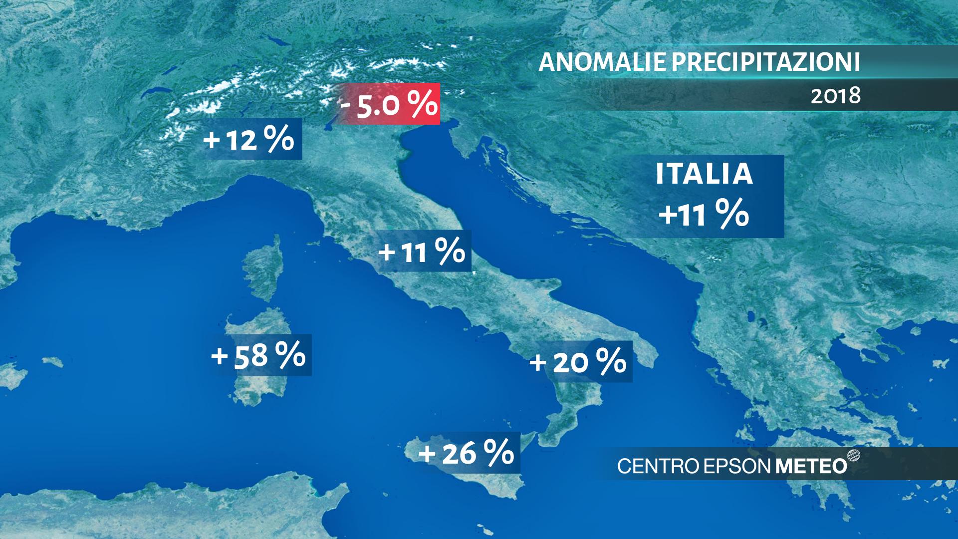 In italia settembre 2018 è stato il terzo più caldo degli ultimi 60 anni. Le anomalie delle precipitazioni nel 2018