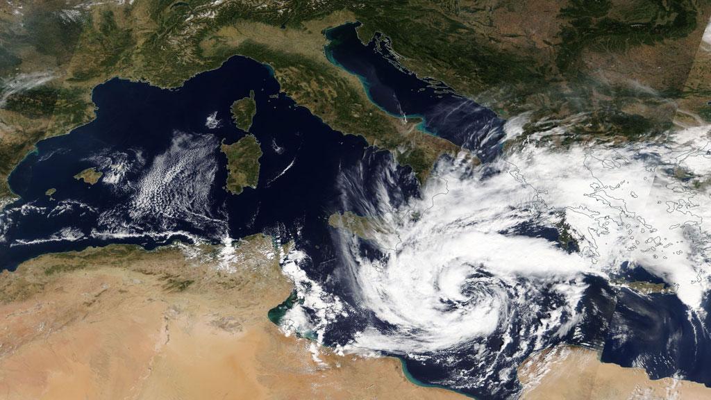 Il TLC che si è formato alla fine di settembre 2018 nel Mediterraneo