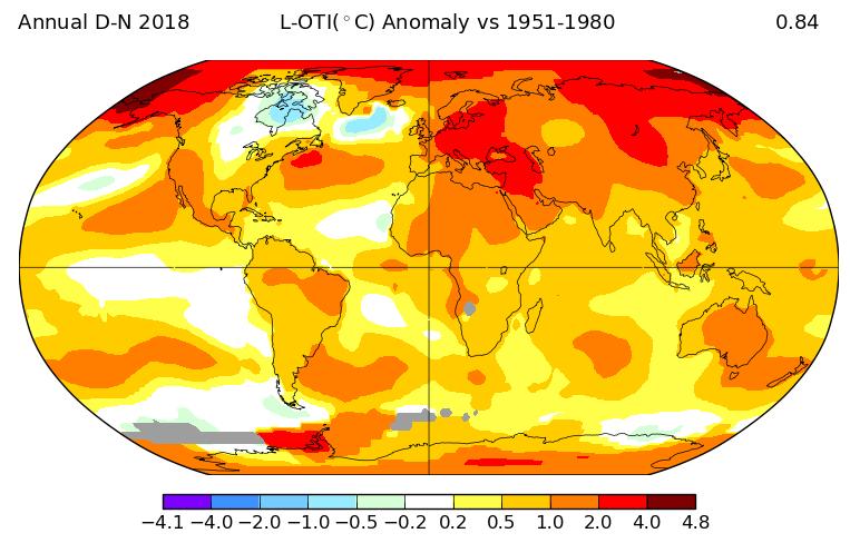 Clima anomalia 2018